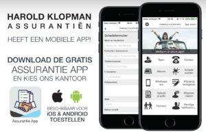 Harold Klopman Assurantien App promo